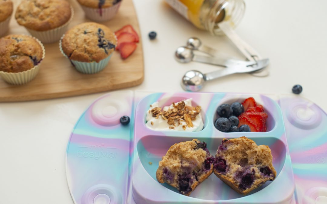 Lemon & Blueberry Breakfast Muffins